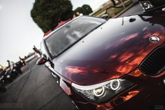 Photo BMW E60 5 series Wine color Cars Headlights