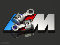 d BMW M logo illustrations Norebbo