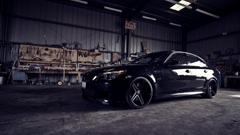 BMW M5 Garage Open Door Light HD Wallpapers