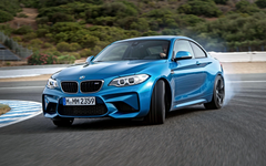 BMW M2 F87 Blue Drift Side View Race Track HD Backgrounds Wallpapers