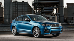 Wallpapers 1920x1080 Bmw X4 M40i Blue Side view Full