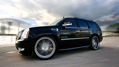car wallpapers black cadillac escalade tuning speed wheels