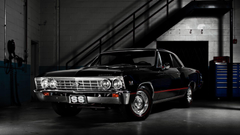 American Cars Black Chevelle Chevrolet SS Classic Muscle Wallpapers