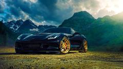 HD Backgrounds Chevrolet Corvette Z06 Back Mountain Front View