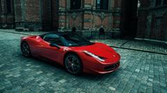 Sporty Ferrari 458 Italia Wallpapers