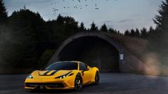 Yellow Novitec Rosso Ferrari 458 Wallpapers
