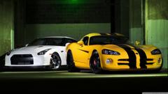 Nissan GTR And Dodge Viper 4K HD Desktop Wallpapers for Wide