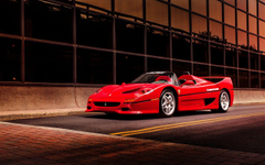 Photo Ferrari F50 supercar Red auto