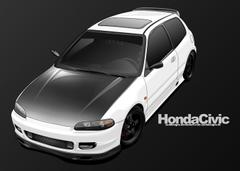 Honda Civic Toon by sc4designs