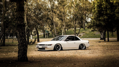 Forest cars tuning white cars tuned Nissan Silvia S13 stance jdm