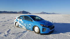 Hyundai Ioniq Hybrid Sets Speed Record At Bonneville Salt Flats