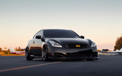 black infiniti g37 coupe tuning dramatic car wide hd wallpapers