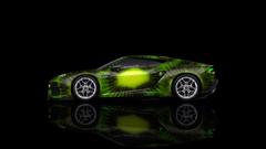K Lamborghini Asterion Side Kiwi Aerography Car 2014
