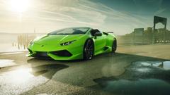 Novitec N Largo Lamborghini Huracan Spyder 4K Wallpapers