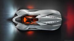 Lamborghini Egoista Top View Wallpapers For HTC Desire