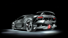Lamborghini sesto elemento in rear view on hd wallpapers from http
