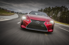 The Lexus LC 500 is a big powerful flagship coupe