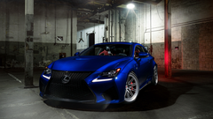 Wallpapers Lexus RC F Blue Vossen Wheels Tuning HD 5K
