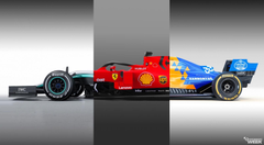 Formula 1 Sliders Compare the W10 SF90 and MCL34