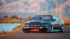 wallpapers car outlook tuning auto nissan 240sx nissan