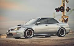 Subaru Impreza STI Rail Crossing HD Wallpapers