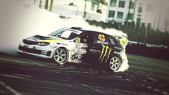 Wallpapers vehicle Drifting sports car Subaru Monster Energy