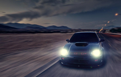 Wallpapers glare speed Subaru Impreza blur black WRX black