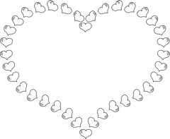 Black And White Hearts Wallpaper Clip Art