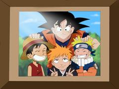 Naruto Goku Luffy and Ichigo Coloring by