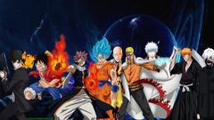 Goku Naruto Luffy Ichigo Natsu Saitama