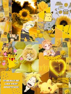 Kaminari Denki Aesthetic Yellow Wallpapers