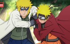 Wallpapers anime father art Naruto Naruto son Minato Uzumaki