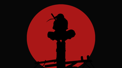 Naruto Anime Uchiha Itachi Moon Red Moon Frontal View Red Wallpapers