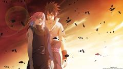 Naruto Shippuden Uchiha Sasuka and Haruno Sakura wallpapers HD
