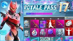 PUBG Mobile Season 17 Royale Pass Rewards Leaked