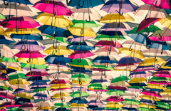 umbrellas colored many backgrounds HD wallpapers