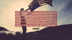 Patrick Henry Quote The Constitution is not an instrument for the