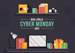 Cyber monday big sale wallpapers Vector Image