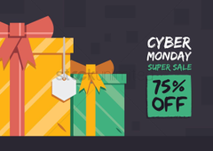 Cyber monday super sale wallpapers Vector Image