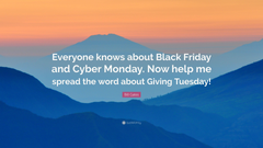Bill Gates Quote Everyone knows about Black Friday and Cyber