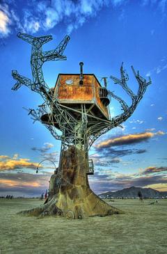 steampunk Metal Burning Man Desert Portrait display Festivals