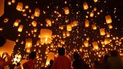 Thai Lantern Festivals Loi Krathong and Yi Peng