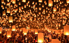 floating lanterns festival thailand HD wallpapers