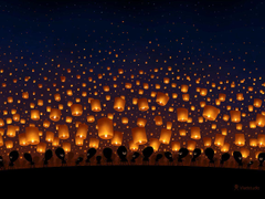 Sky Lanterns Desktop wallpapers Vladstudio
