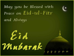 Blessed and Peace on Eid ul Fitr Mubarak Image Wallpapers Quotes