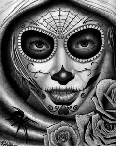 Day Of The Dead Drawings Pencil