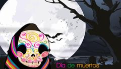 Fondo de escritorio Día de muertos Turquesa POP En vivo desde