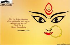 Happy Durga Puja Team Tea 2 Taxi www tea2taxi