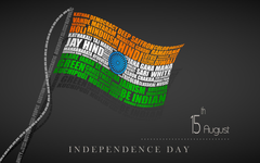 Independence Day Typography Flag wallpapers