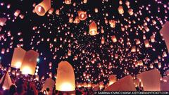 Enchanting scenes from Loy Krathong magical lantern festival in